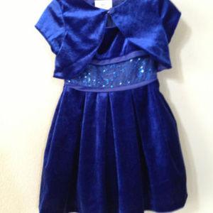 Iris & Ivy Velvet Sleeveless Girls Dress  2T #9
